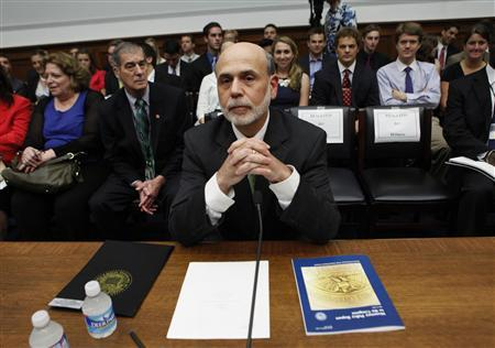 Federal Reserve Chairman Ben Bernanke testifies before the House Financial Services Committee hearing on ''Monetary Policy and the State of the Economy'' on Capitol Hill in Washington July 13, 2011. REUTERS/Kevin Lamarque