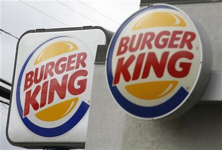 Burger King signs at a restaurant in Annandale, VA, August 24, 2010. REUTERS/Kevin Lamarque