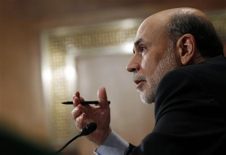 Chairman of the Federal Reserve Ben Bernanke testifies in front of the Senate Banking, Housing and Urban Affairs Committee about ''The Semiannual Monetary Policy Report to the Congress'' on Capitol Hill, July 14, 2011. REUTERS/Larry Downing
