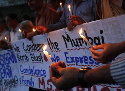 Three blasts rock Mumbai