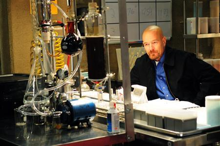 Walter White, as played by Emmy winner Bryan Cranston, is seen in a publicity still shot from the upcoming fourth season of ''Breaking Bad,'' a show about a down-on-his-luck chemistry teacher who uses his scientific skills for decidedly illegal means. REUTERS/Courtesy of Ursula Coyote/AMC/Handout