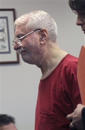 Jack Daniel McCullough, accused of the 1957 abduction and murder of then seven-year-old Maria Ridulph of Sycamore, Illinois, appears at a hearing in King County Superior Court in Seattle, Washington on July 20, 2011 to waive his right to an extradition hearing. REUTERS/Marcus Donner