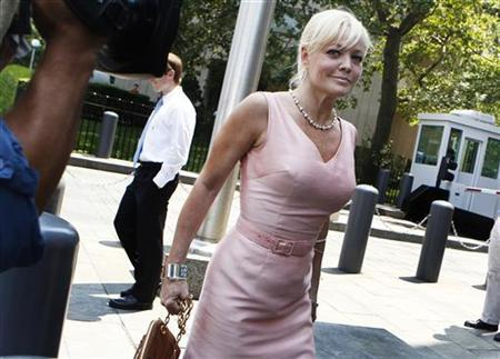 Danielle Chiesi arrives at the Federal Courthouse for sentencing related to the Galleon hedge fund insider trading case in New York July 20, 2011. REUTERS/Shannon Stapleton