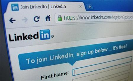 The sign up page of Linkedin.com is seen in Singapore, May 20, 2011. REUTERS/David Loh