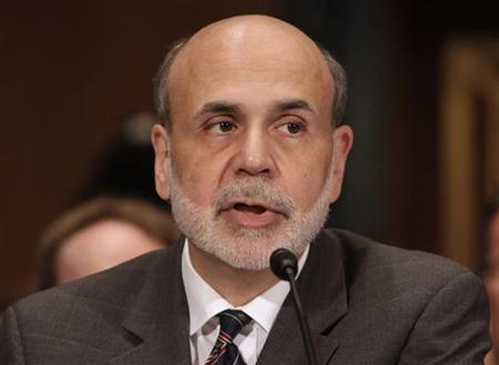 Federal Reserve Chairman Ben Bernanke testifies before the Senate Banking, Housing and Urban Affairs Committee hearing on Enhanced Oversight After the Financial Crisis: The Wall Street Reform Act at One Year on Capitol Hill in Washington, July 21, 2011. REUTERS/Yuri Gripas