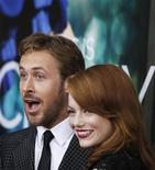 <p>Cast members Ryan Gosling and Emma Stone arrive for the premiere of their film 'Crazy, Stupid, Love' in New York July 19, 2011. REUTERS/Lucas Jackson</p>