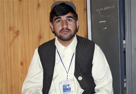 Omid Khaplwak, a reporter for Britain's BBC and Afghanistan's Pajhwok news agency, is seen in this undated handout photo. REUTERS/Pajhwok News Agency/Handout