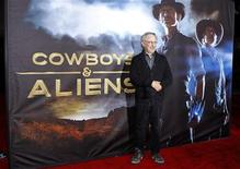 "<p>Executive producer Steven Spielberg arrives for the world premiere of Universal Pictures motion picture ""Cowboys & Aliens"" in conjunction with Comic Con in San Diego, California July 23, 2011. REUTERS/Mike Blake</p>"