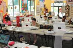 <p>Quilters learn at Carrollton's Bella Fabrics in eastern Virginia, in an undated photo. REUTERS/Matthew A. Ward</p>