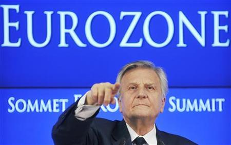 European Central Bank President Jean-Claude Trichet addresses a news conference at the end of an euro zone leaders crisis summit in Brussels July 21, 2011. REUTERS/Jan Van De Vel