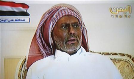Yemen's President Ali Abdullah Saleh speaks during an interview broadcast on Yemen's state TV in this still image taken from file video July 7, 2011. REUTERS/Yemen