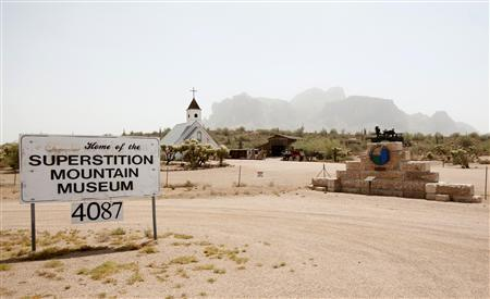 The Superstition Mountain Museum is seen close to the last known address for David Spargo and his company Asseterra in Apache Junction, Arizona, July 6, 2011. Picture taken July 6, 2011. REUTERS/Rick Scuteri