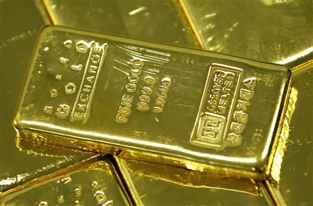 One kilogram gold bars are seen in this picture illustration taken at the Korea Gold Exchange in Seoul August 9, 2011. REUTERS/Jo Yong-Hak