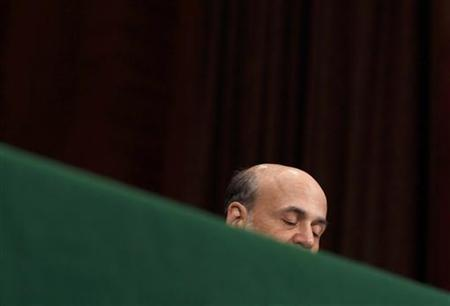 Chairman of the Federal Reserve Ben Bernanke testifies before the Senate Banking, Housing and Urban Affairs Committee about ''The Semiannual Monetary Policy Report to the Congress'' on Capitol Hill in Washington, July 14, 2011. REUTERS/Larry Downing