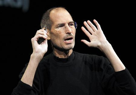 Apple Inc CEO Steve Jobs takes the stage to discuss the iCloud service at the Apple Worldwide Developers Conference in San Francisco in this June 6, 2011 file photo. Jobs has resigned his position as CEO of Apple, the company announced August 24, 2011. REUTERS/Beck Diefenbach/Files