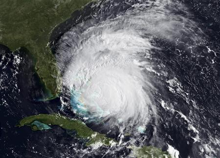 A satellite image of Hurricane Irene taken August 25, 2011. REUTERS/NOAA