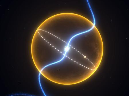 An exotic planet that seems to be made of diamond racing around a tiny star in our galactic backyard in an undated image courtesy of Swinburne University of Technology in Melbourne. REUTERS/Handout