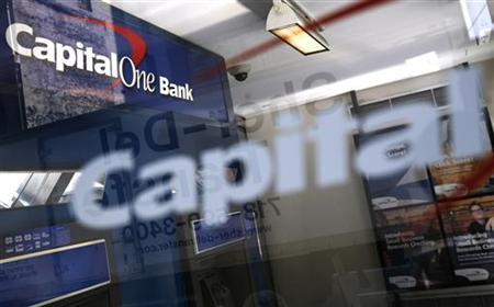 The entrance to a Capital One Bank is seen in New York August 17, 2009. REUTERS/Shannon Stapleton