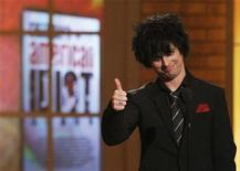 "<p>Billie Joe Armstrong of the band ""Green Day"" introduces his musical ""American Idiot"" at the American Theatre Wing's 64th annual Tony Awards ceremony in New York June 13, 2010. REUTERS/Gary Hershorn</p>"