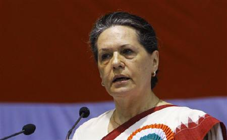 Chief of India's ruling Congress Party Sonia Gandhi in New Delhi November 2, 2010. REUTERS/B Mathur/Files