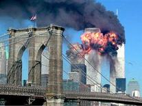 <p>The second tower of the World Trade Center bursts into flames after being hit by a hijacked airplane in New York in this September 11, 2001 file photograph. REUTERS/Sara K. Schwittek/Files</p>