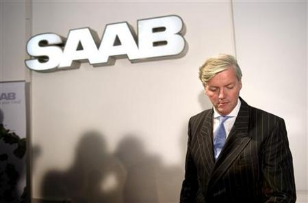 Victor Muller, Spyker Chief Executive and Chairman of Saab Automobile, arrives for a news conference in Trollhattan September 7, 2011. REUTERS/Bjorn Larsson Rosvall/Scanpix