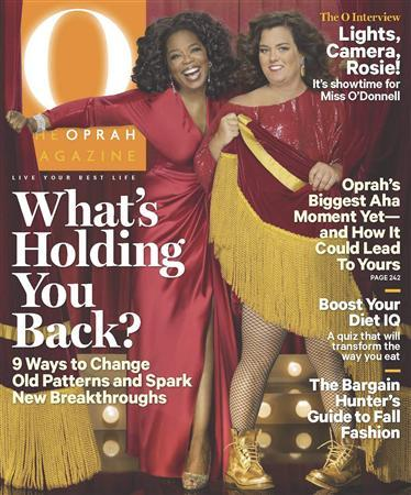 The October 2011 cover of ''O, The Oprah Magazine''. REUTERS/Courtesy of ''O, The Oprah Magazine''