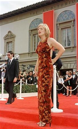 Television personality Eleanor Mondale arrives at the Pasadena Civic Auditorium for the 49th Annual Emmy Awards September 14, 1997. Reuters/Fred Prouser