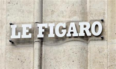 Outside view of the building of France's daily newspaper le Figaro in Paris in this February 6, 2008 file photo. REUTERS/Charles Platiau