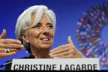 International Monetary Fund (IMF) Managing Director Christine Lagarde answers questions during a Development Committee news conference at the IMF-World Bank Annual Meetings in Washington September 24, 2011. REUTERS/Jonathan Ernst