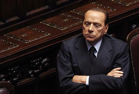Italy's Prime Minister Silvio Berlusconi attends a session at the Parliament in Rome September 22, 2011. REUTERS/Alessandro Bianchi
