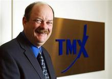 <p>TMX Group Chief Executive Officer Thomas Kloet poses for a portrait at the TSX offices in Toronto February 22, 2011. REUTERS/Mark Blinch (CANADA - Tags: BUSINESS)</p>