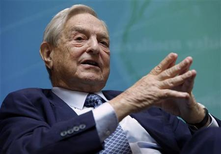 Billionaire investor George Soros speaks at a forum Charting A New Growth Path for the Euro Zone during the annual IMF-World Bank meetings in Washington September 24, 2011. REUTERS/Yuri Gripas