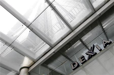 The logo of Belgian-French financial services group Dexia is seen at the bank headquarters in central Brussels October 4, 2011. REUTERS/Yves Herman