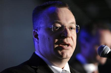 Nokia Chief Executive Stephen Elop takes part in the 2011 Nokia Annual General Meeting in Helsinki, May 3, 2011. REUTERS/Jussi Nukari/Lehtikuva