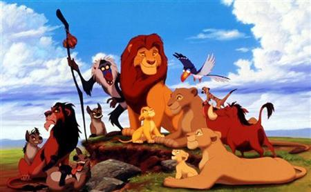 The characters in the new animated film from the Walt Disney Company ''The Lion King'' are shown in this photograph. REUTERS