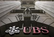 <p>The logo of Swiss bank UBS is seen at the company's office at the Bahnhofstrasse in Zurich in this July 1, 2009 file photo. REUTERS/Arnd Wiegmann/Files</p>