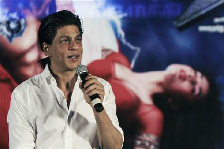 Bollywood actor Shah Rukh Khan speaks during a promotional event for his film ''Ra.One'' in Chennai, October 10, 2011. REUTERS/Babu/Files