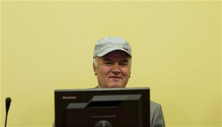 Former Bosnian Serb commander Ratko Mladic appears in court at the International Criminal Tribunal for the former Yugoslavia (ICTY) in the Hague July 4, 2011. REUTERS/Valerie Kuypers/ANP/Pool