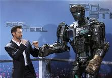 """<p>Australian actor Hugh Jackman poses during a photocall in Munich September 12, 2011 to promote the film """"Real Steel"""". The movie will premiere in Germany on November 10, 2011. REUTERS/Michaela Rehle</p>"""