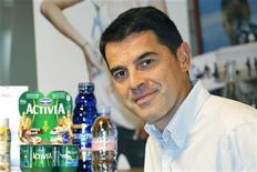 <p>French food group Danone Chief Financial Officer Pierre-Andre Terisse poses during an interview with Reuters in his office in Paris September 15, 2011. REUTERS/Charles Platiau</p>