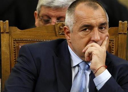 Bulgarian Prime Minister Boiko Borisov reacts during confidence vote debates in the parliament in Sofia January 20, 2011. REUTERS/Stoyan Nenov