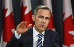 <p>Bank of Canada Governor Mark Carney speaks during a news conference upon the release of the Monetary Policy Report in Ottawa October 26, 2011. REUTERS/Chris Wattie</p>