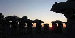 "<p>""Carhenge,"" a full-scale automotive replica of England's Stonehenge made of 38 vintage automobiles, is pictured in Alliance, Nebraska, in this photograph taken on October 27, 2011 and released on October 28. The Friends of Carhenge on Thursday put the site up for sale at an asking price of $300,000. Picture taken October 27, 2011. REUTERS/Stringer</p>"