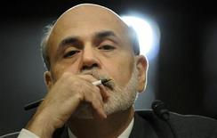 <p>Federal Reserve Chairman Ben Bernanke gives testimony at a Joint Economic Committee hearing on the economic outlook, on Capitol Hill in Washington October 4, 2011. REUTERS/Jonathan Ernst</p>