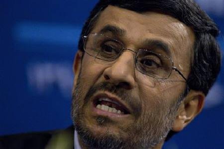 EDITORS' NOTE:  Reuters and other foreign media are subject to Iranian restrictions on their ability to film or take pictures in Tehran.Iranian President Mahmoud Ahmadinejad speaks during a news conference in Tehran June 7, 2011. REUTERS/Caren Firouz/Files