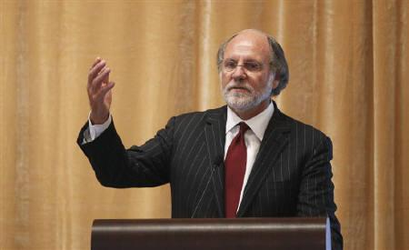 Jon Corzine speaks during the Sandler O'Neill + Partners global exchange and brokerage conference in New York June 9, 2011.  REUTERS/Lucas Jackson/Files