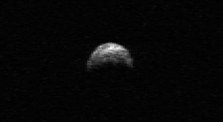 This radar image of asteroid 2005 YU55 was generated from data taken in April of 2010 by the Arecibo Radar Telescope in Puerto Rico. REUTERS/NASA/Cornell/Arecibo/Handout