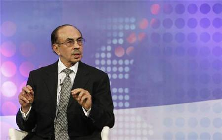 Chairman of The Godrej Group Adi Godrej speaks during a televised debate on ''The Indian Spring: Seeking Independence from Corruption'' at the World Economic Forum (WEF) India Economic Summit in Mumbai November 13, 2011. REUTERS/Vivek Prakash