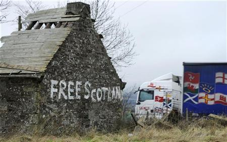 A derelict cottage is seen at the side of the A9 near Blackford,Scotland January 10, 2012. REUTERS/Russell Cheyne